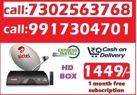 New Airtel DTH D2H airteltv DishTv@ just 1249 All  india best offer