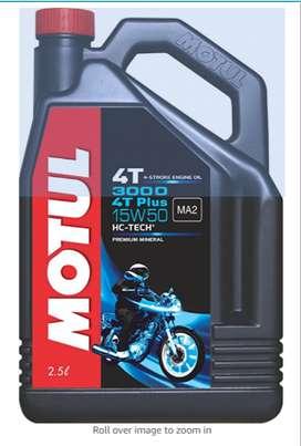 Motul 3000 4T Plus 15W50 API SM HC Tech Engine Oil for Royal Enfield B