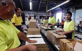 मशीन ऑपरेटर हेल्पर 12 घंटे की ड्यूटी के लिए पैकिंग के लिए आवश्यक है