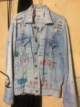 Jaket jeans model sobek