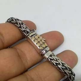 Gelang Rantai Perak Silver 925 Batu Permata Ruby