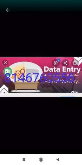 Based data entry work for genuine homebased job