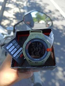 Jam tangan Digitec DG-3106T Hijau Army Original