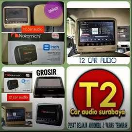 TV HEADREST NAKAMICHI 8INC FULL HD JAPAN WARNA HITAM/CREAM mumer sby