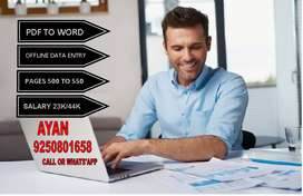 Home Based Data Entry jobs!! need data entry operators for half day