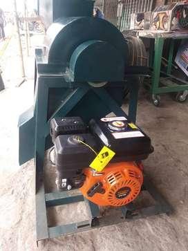 mesin cacah sampah pakai mesin penggeak bensin