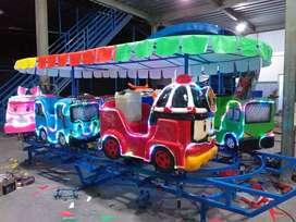 odong odong EK kereta panggung fiber kincir mini coaster mainan koin