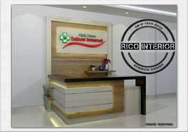 Kitchen set/kamar set/meja kantor/receptionist/DLL