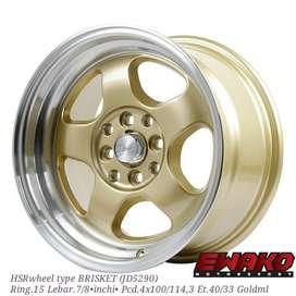 Brisket R15 - Velg Mobil Racing Hsr Wheel Import (free ongkir)