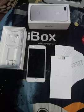 Iphone 7 plus silver white 128gb ex ibox garansi on