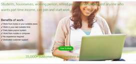 Work from home, part time, full time without investment