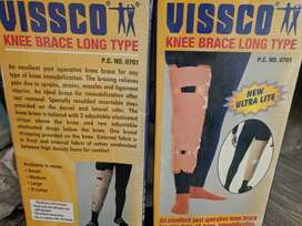 Vissco Knee Brace Long Type (pair of two pieces) - New and Unused