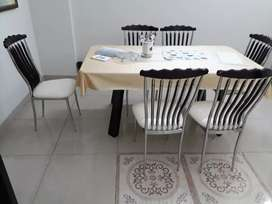 DINING TABLE ( 6 CHAIRS )