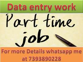 Ad Posting work Part time job Home Based work Data entry job typing.