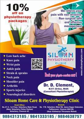 Physiotherapy treatment @ door step @399