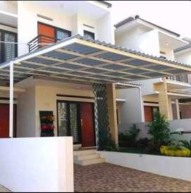 Kanopi minimalis atap spandek