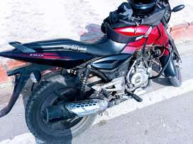 Well maintained, single owner bike,40000 driven, black $ red colour