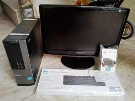 Dell i3 slim PC 8gb ram 500gb hdd 2gb graphic only cpu price@8999/-fix