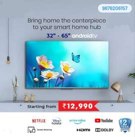 32 inch smart android 4 K ready Full HD @ 11999 with 2 years warranty
