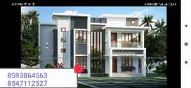 New Premium House 6 Cent Plot With 2700 Sqft 4Bhk in pallimukku