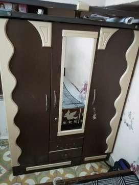 3 doors latest design cupboard with mirror