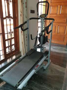 4 in one manual treadmill with twister stepper and 3 level inclination