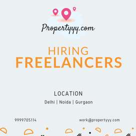 Real Estate Agents / Freelancer Required for Noida, Delhi, Gurgaon