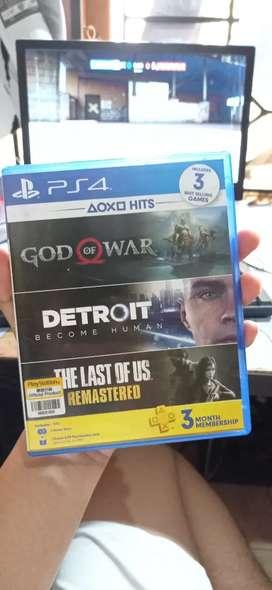 Jual kaset PS 4 God Of War dan Detroit Become Human