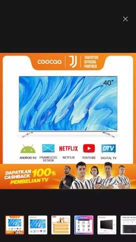 COOCAA 40S6G-ANDROID SMART TV-YOUTUBE-NETFLIX-WIFI-BLUETOOTH-DIGITAL