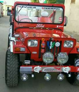 Modified red jeep