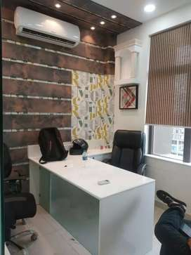 On rent PS QUBE 24 × 7 working time,full furnished office with parking