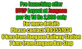 DTCP layout at Jangaon, per sq Rs 2,000 only.