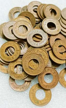 Old British india Hole coins