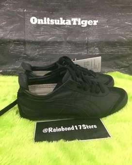 Sepatu onitsuka Tiger full black second Preloved size 38