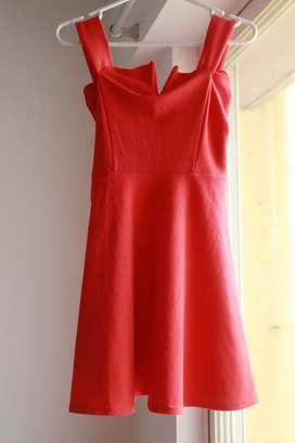 Boohoo UK Orange Elizabeth Dress