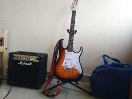 Line6 pod hd 500x,ibanez grx 40 electric guitar,marshall mg15cf