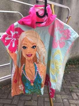 Bathrobe/ Baju Handuk Renang utk Remaja Perempuan wrn Pink. Barbie