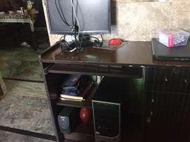 CPU and Monitor and Printer