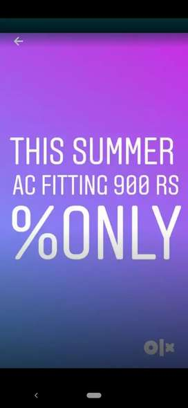 Split AC installation only rs 899 % only