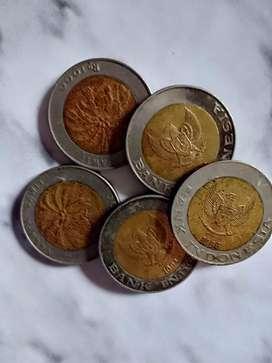 Uang koin lama 1000 an  2 warna