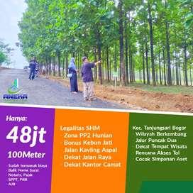Dijual cepat lagi murah tanah kavling siap bangun dgn bonus pohon jati