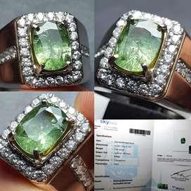 Batu Natural Demantoid Andradite Garnet 2.24ct Origin Russia