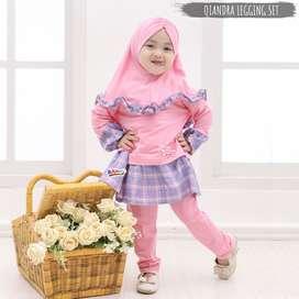 eLBi Qiandra Setelan anak aksen rempel - Baju anak keren lucu