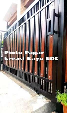 Kanopi pintu pagar balkon tralis reling kaca folding gate dll