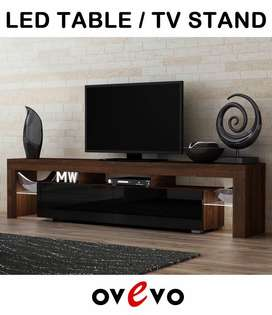 High Gloss Led TV Table Consoles For Sale