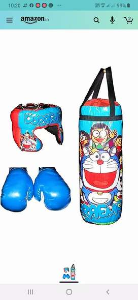 It's a new punching bag with gloves and helmet