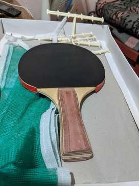 Table tennis bat and TT net