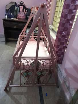 Baby Cot + Swing with mattress
