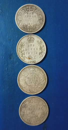 Silver coins before freedom if India