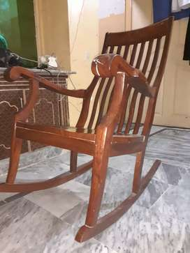 Akhrot wooden easy chair